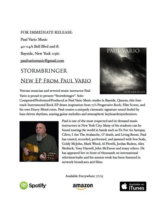 Paul Vario - Stormbringer